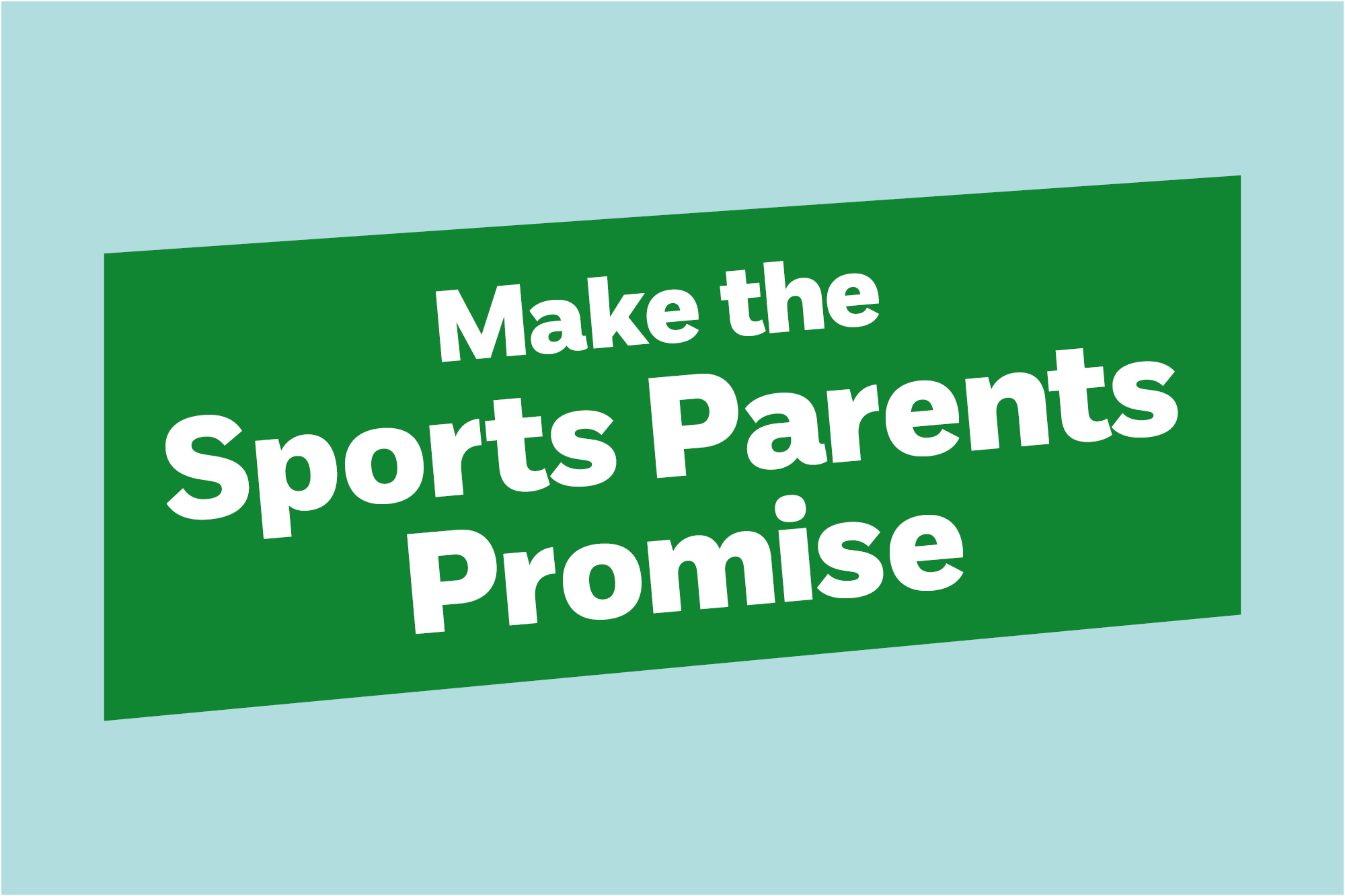 Make the Sports Parents Promise